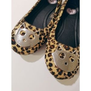 T.U.K Cheetah Print, Metal Kitty Shoes, Flats